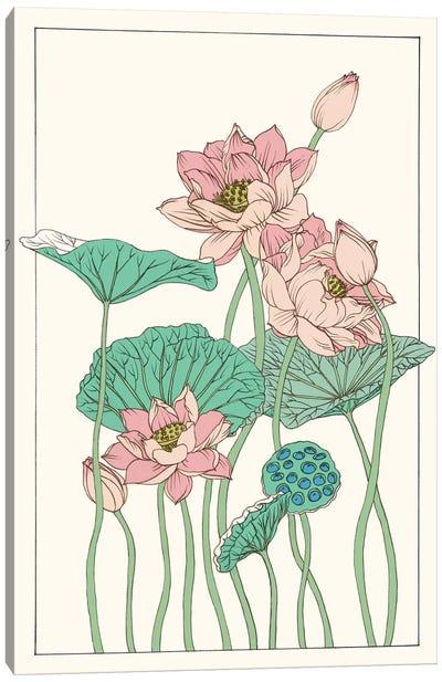 Botanical Gloriosa Lotus I Canvas Print #WNG59