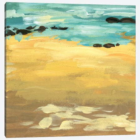 Wave Impression II Canvas Print #WNG601} by Melissa Wang Canvas Art