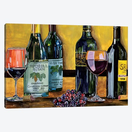 Still Life with Wine I Canvas Print #WNG602} by Melissa Wang Canvas Art