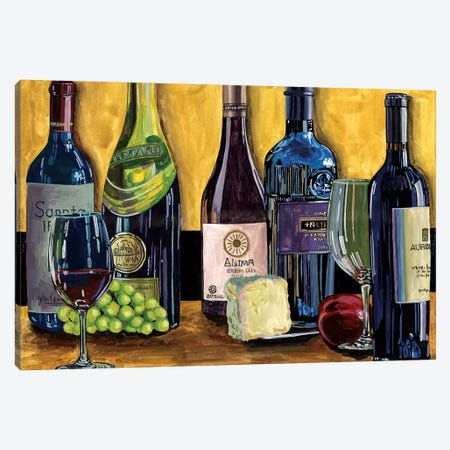 Still Life with Wine II Canvas Print #WNG603} by Melissa Wang Canvas Wall Art