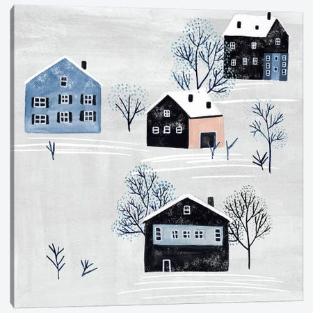 Snowy Village I Canvas Print #WNG604} by Melissa Wang Canvas Art Print
