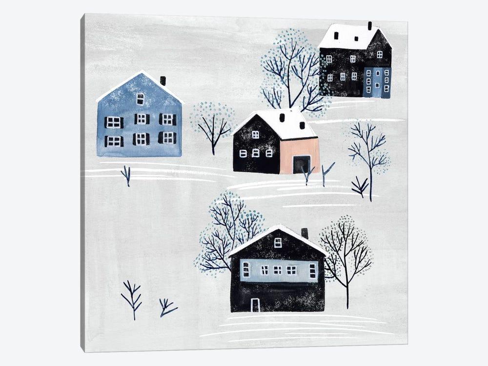 Snowy Village I by Melissa Wang 1-piece Canvas Print