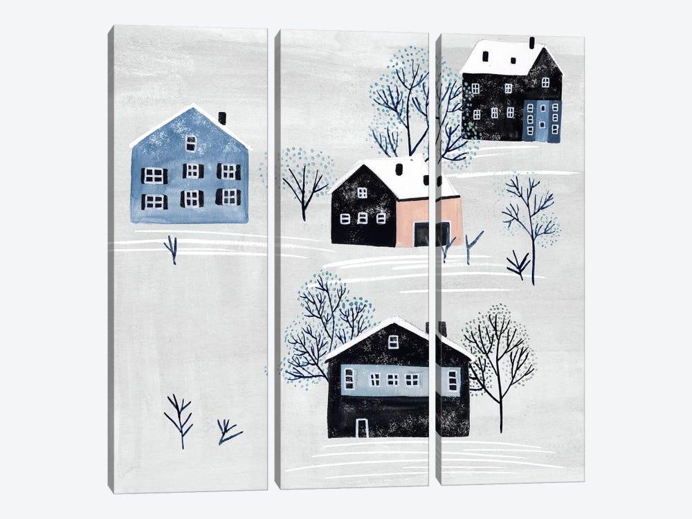 Snowy Village I by Melissa Wang 3-piece Canvas Print