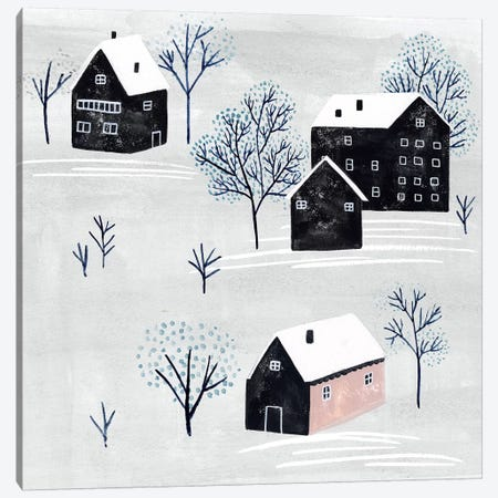Snowy Village II Canvas Print #WNG605} by Melissa Wang Art Print
