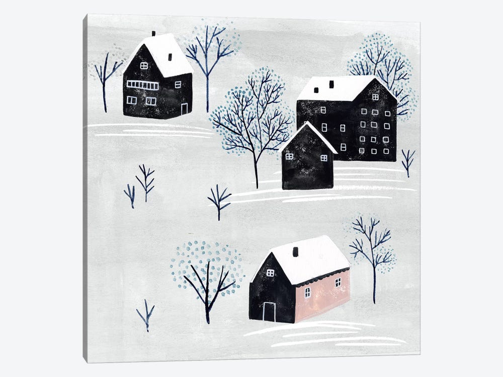 Snowy Village II by Melissa Wang 1-piece Canvas Wall Art