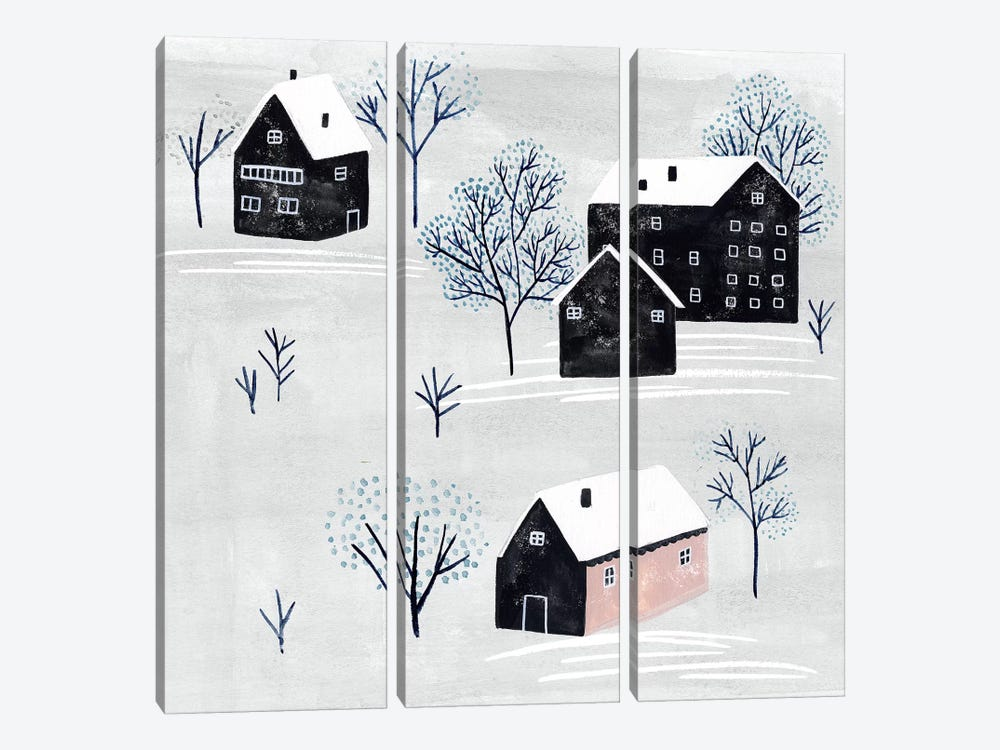 Snowy Village II by Melissa Wang 3-piece Canvas Art