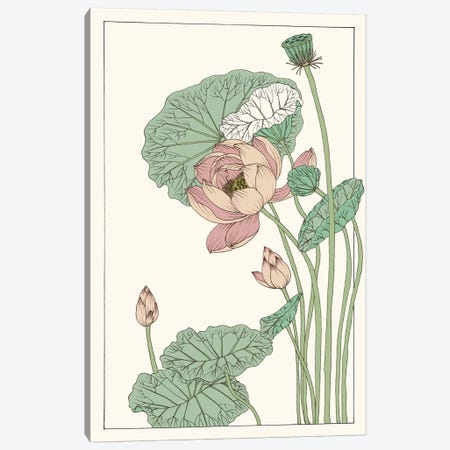 Botanical Gloriosa Lotus II Canvas Print #WNG60} by Melissa Wang Canvas Art Print