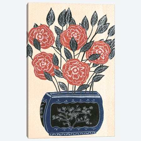 Vase of Flowers II Canvas Print #WNG624} by Melissa Wang Art Print