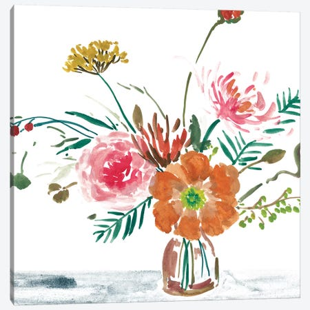 Celebration Bouquet II Canvas Print #WNG628} by Melissa Wang Canvas Art