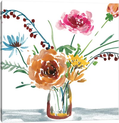 Celebration Bouquet III Canvas Art Print