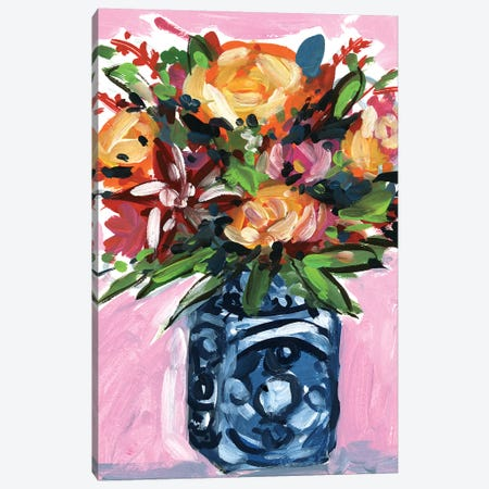 Bouquet in a vase III Canvas Print #WNG631} by Melissa Wang Art Print