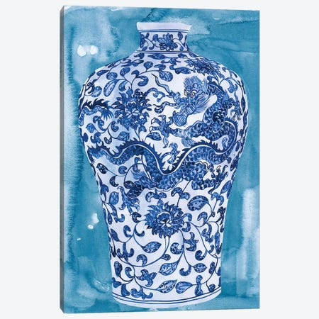Ming Vase I Canvas Print #WNG645} by Melissa Wang Art Print