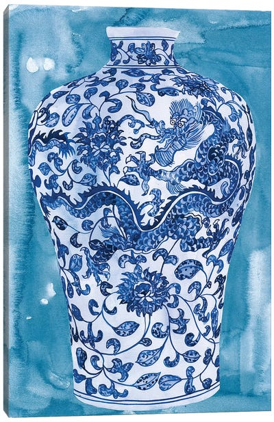 Ming Vase I Canvas Art Print