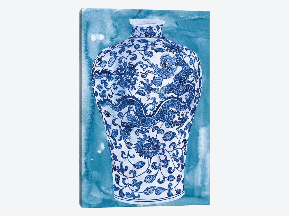 Ming Vase I by Melissa Wang 1-piece Canvas Art