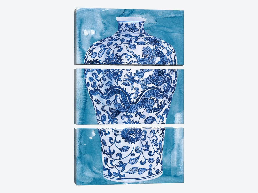 Ming Vase I by Melissa Wang 3-piece Canvas Wall Art