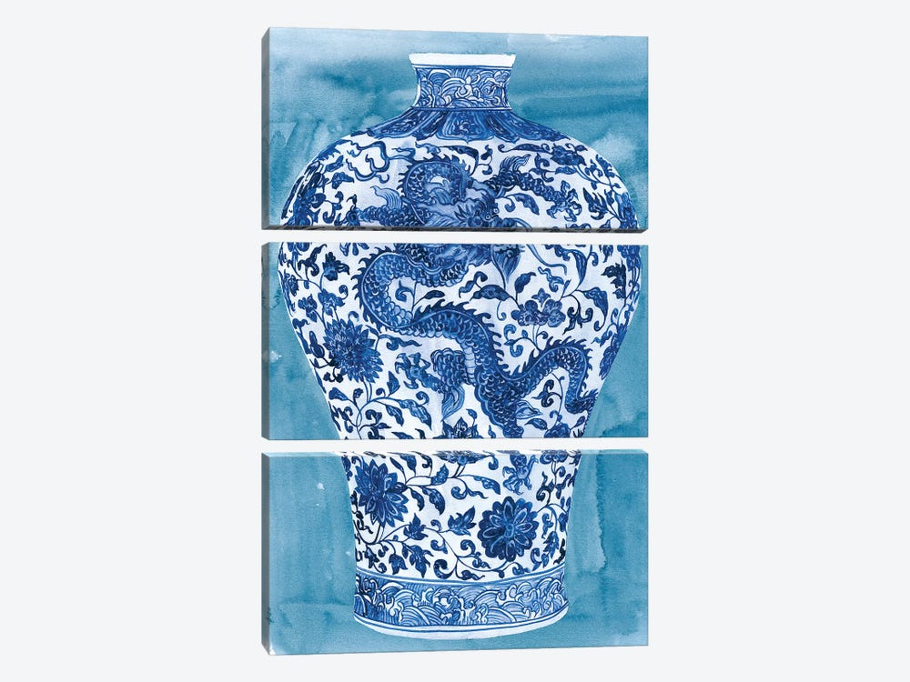 Ming Vase II by Melissa Wang 3-piece Canvas Print