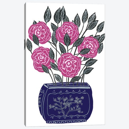 Painted Vase I Canvas Print #WNG650} by Melissa Wang Canvas Art Print
