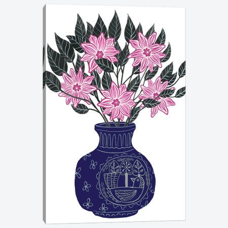 Painted Vase II Canvas Print #WNG651} by Melissa Wang Canvas Print