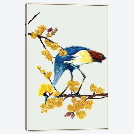 Chimonanthus Praecox I Canvas Print #WNG65} by Melissa Wang Canvas Artwork