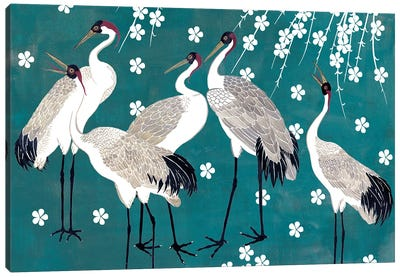 Crane at Night I Canvas Art Print