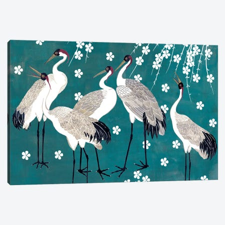 Crane at Night I Canvas Print #WNG674} by Melissa Wang Canvas Artwork