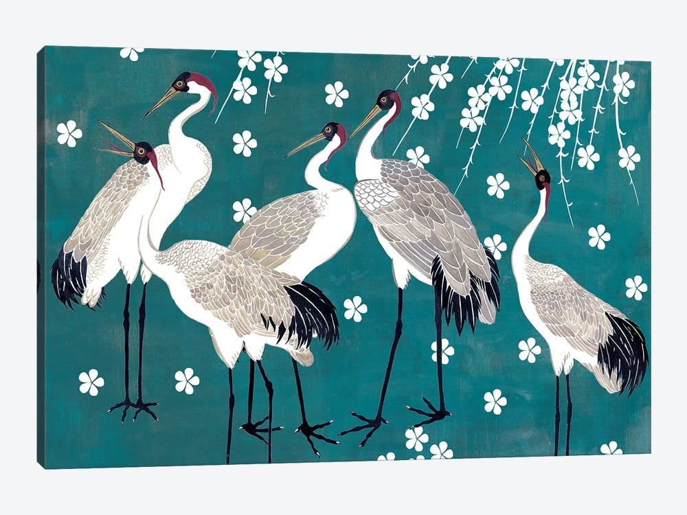 Crane at Night I by Melissa Wang 1-piece Canvas Wall Art