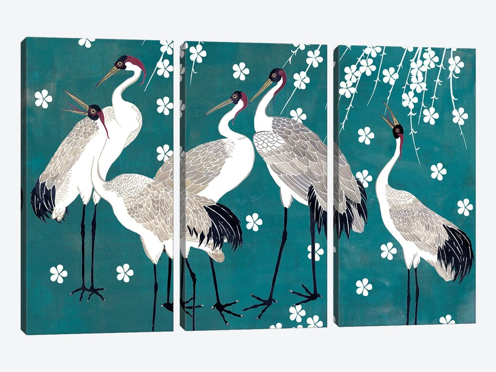 Crane at Night I by Melissa Wang 3-piece Canvas Art