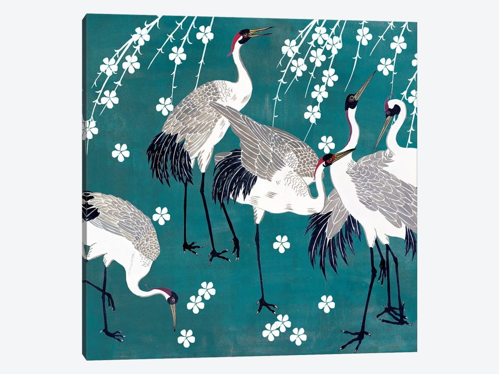 Crane at Night II by Melissa Wang 1-piece Art Print