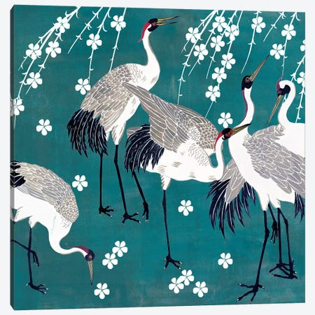 Crane at Night II Canvas Print #WNG675} by Melissa Wang Canvas Wall Art