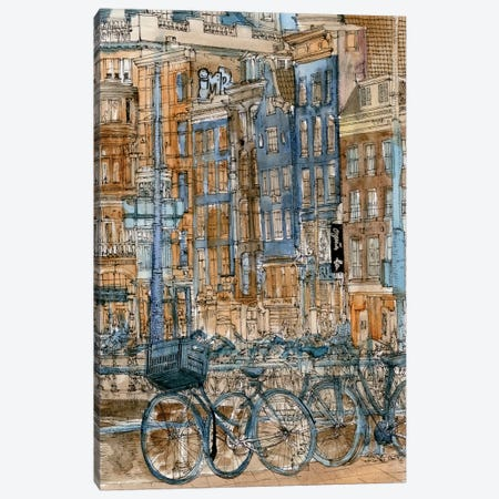 City Scene I Canvas Print #WNG67} by Melissa Wang Canvas Wall Art