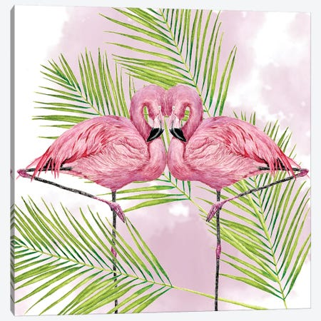 Pink Flamingo Collection Canvas Print #WNG685} by Melissa Wang Canvas Print