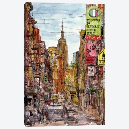 City Scene II Canvas Print #WNG68} by Melissa Wang Canvas Art Print