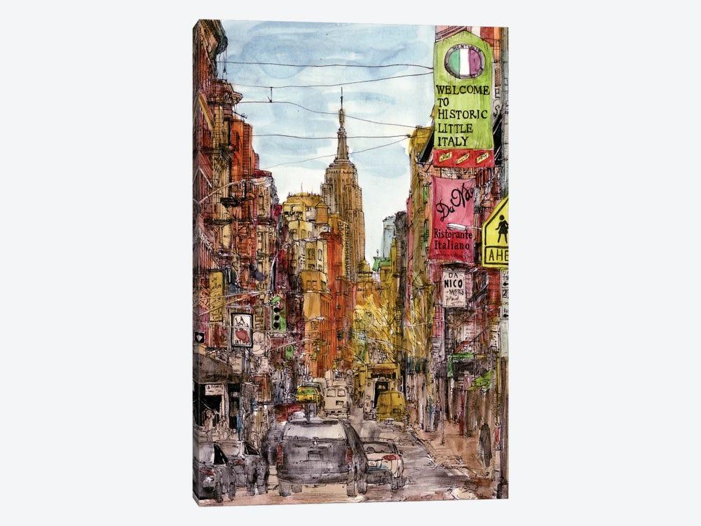 City Scene II by Melissa Wang 1-piece Canvas Wall Art