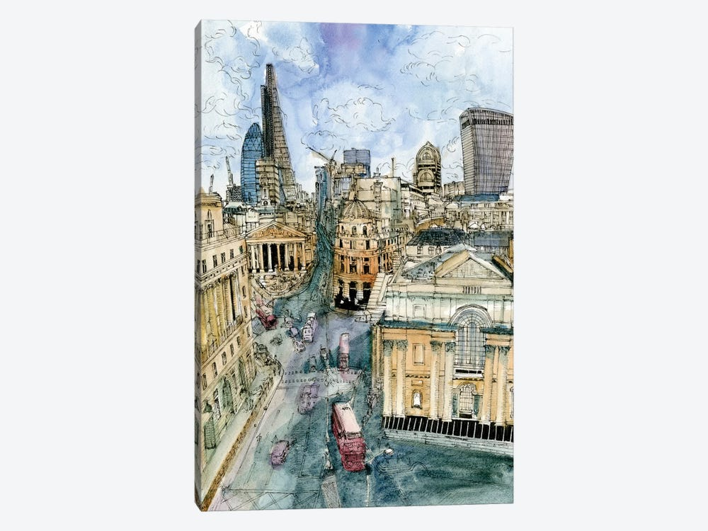 City Scene III by Melissa Wang 1-piece Art Print