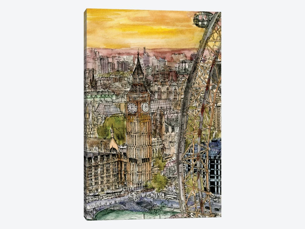 City Scene IV by Melissa Wang 1-piece Canvas Art Print