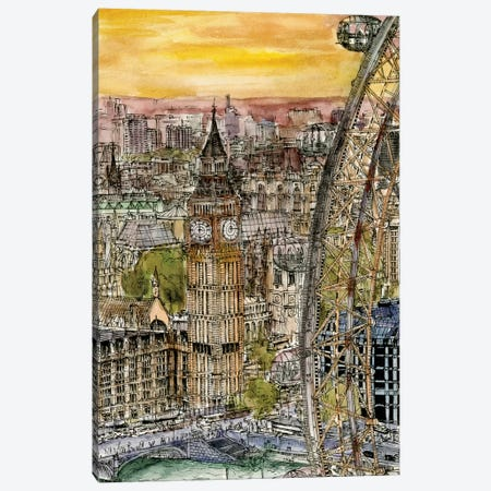 City Scene IV Canvas Print #WNG70} by Melissa Wang Canvas Wall Art