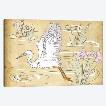 Great Egret II Canvas Print #WNG717} by Melissa Wang Art Print
