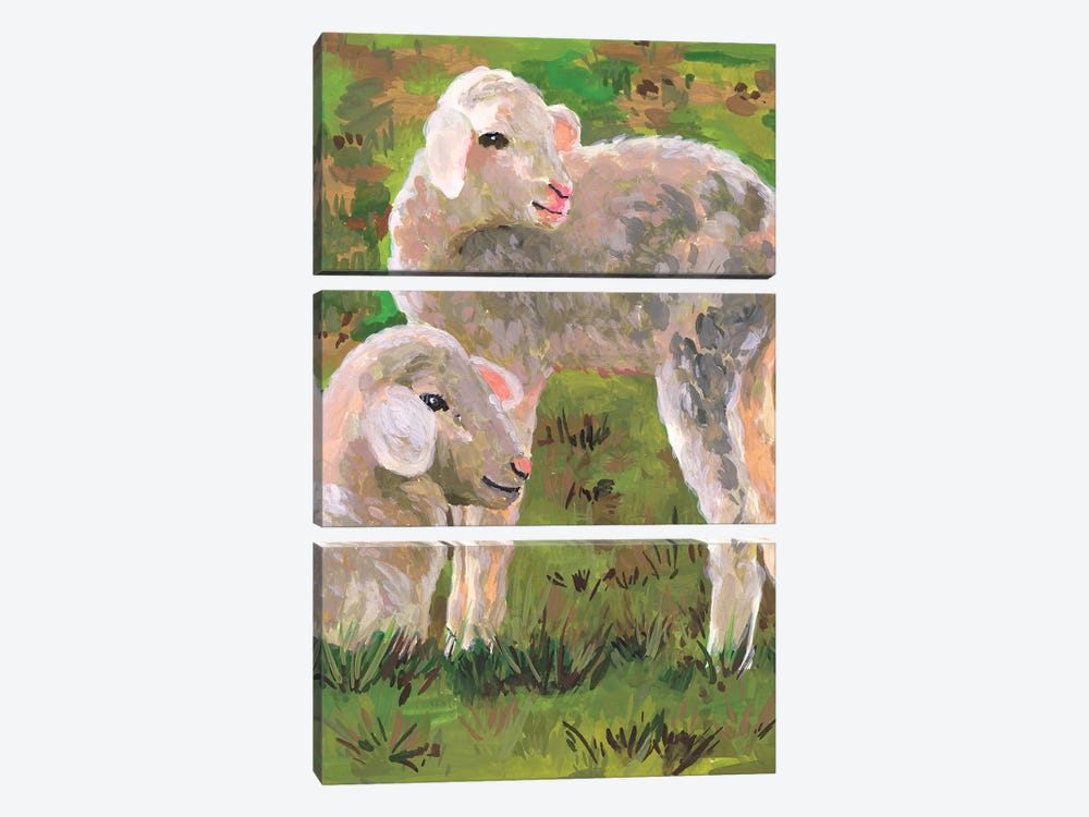 In the Meadow I by Melissa Wang 3-piece Canvas Wall Art