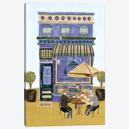 Local Cafe II Canvas Print #WNG729} by Melissa Wang Canvas Art Print