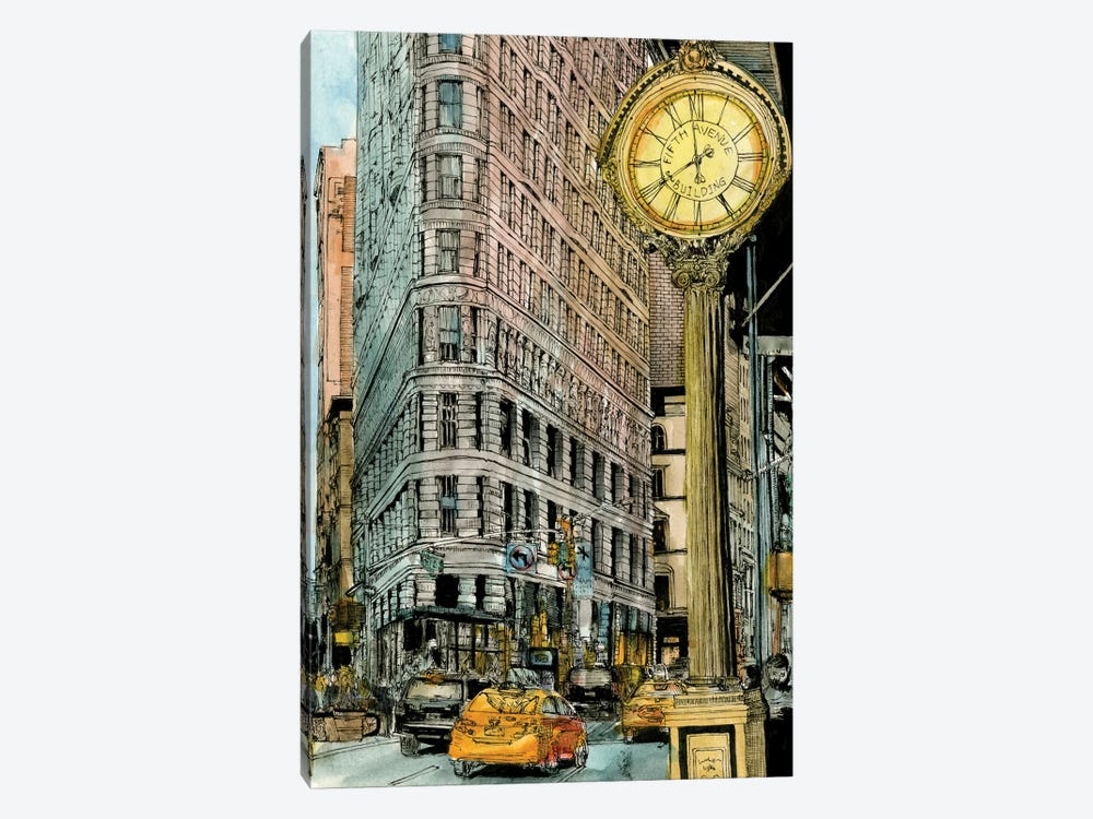 City Scene VII by Melissa Wang 1-piece Canvas Wall Art