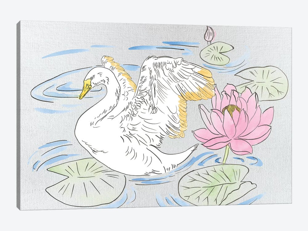 Swan Lake Song I by Melissa Wang 1-piece Art Print