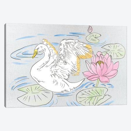 Swan Lake Song I Canvas Print #WNG769} by Melissa Wang Art Print