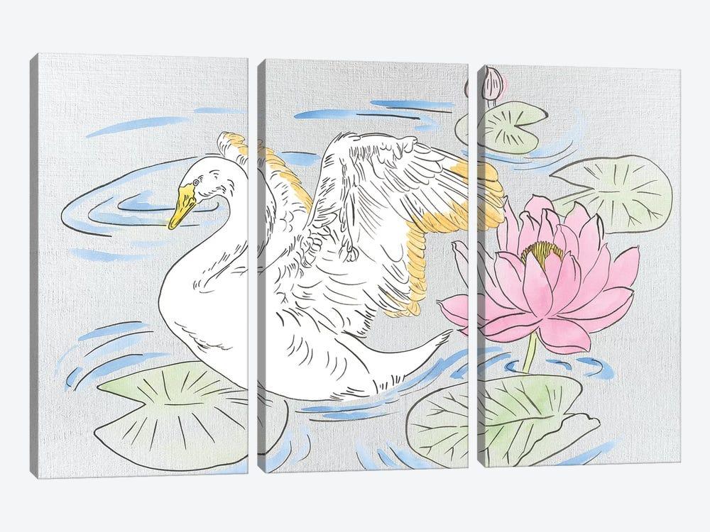 Swan Lake Song I by Melissa Wang 3-piece Canvas Art Print