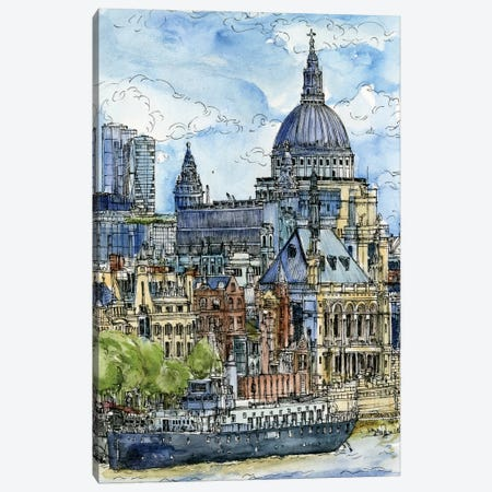 City Scene X Canvas Print #WNG76} by Melissa Wang Art Print