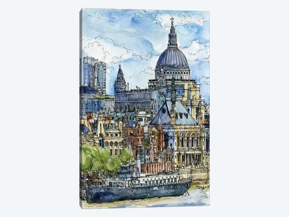 City Scene X by Melissa Wang 1-piece Canvas Print
