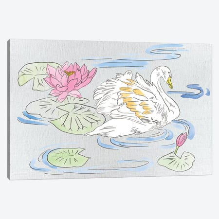 Swan Lake Song II Canvas Print #WNG770} by Melissa Wang Canvas Art