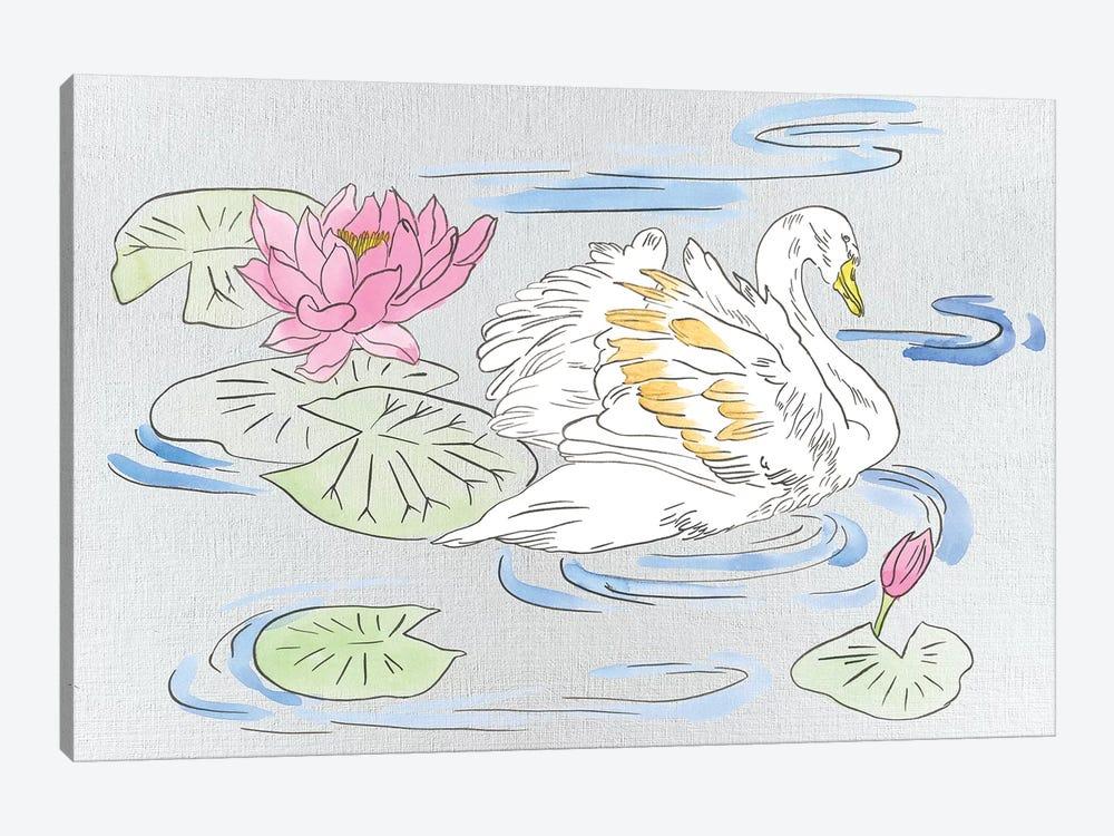 Swan Lake Song II by Melissa Wang 1-piece Canvas Art Print