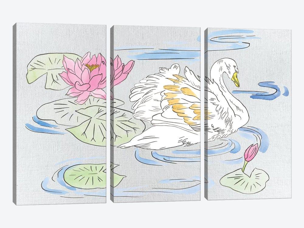 Swan Lake Song II by Melissa Wang 3-piece Canvas Art Print