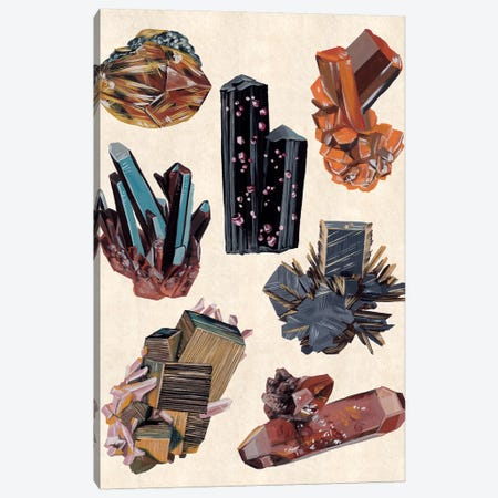 Vintage Minerals I Canvas Print #WNG773} by Melissa Wang Canvas Wall Art