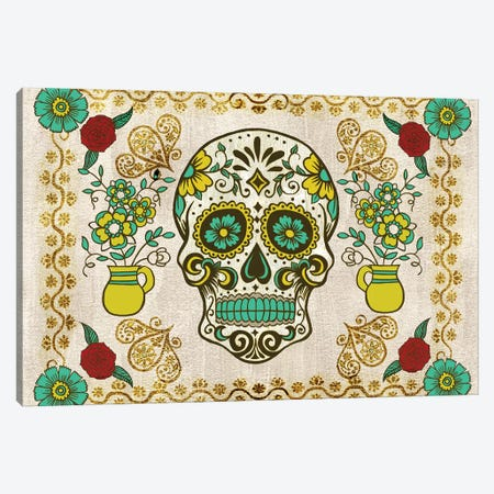 Dia de los Muertos Collection A Canvas Print #WNG781} by Melissa Wang Art Print